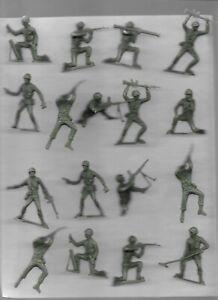 46 Vintage Soldiers Plastic Figures,(Marx?) several pages