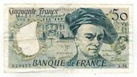1989 France 50 Francs Note P152d F-VF