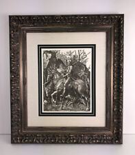 "1800s Albrecht DURER Engraving B98 ""Knight, Death and Devil"" Original DURAND COA"