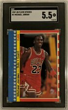 1987-88 Fleer All-Star Sticker Michael Jordan #2 of 11 Bulls SGC 5.5