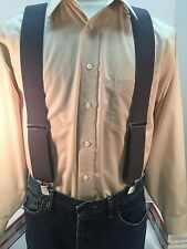 "New, Men's, Medium Gray, XL, 2"", Adj. Suspenders / Braces,  Made in the USA"