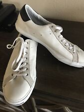 converse jack purcell white leather sneakers men's 13