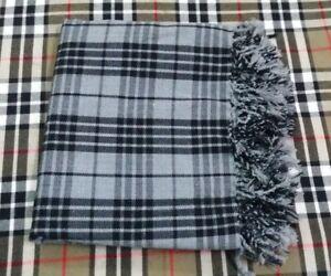 Men's Scottish Highland Kilt Fly Plaid Grey Watch Tartan 48''x 48'' Acrylic Wool