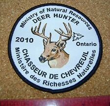 2010 ONTARIO MNR DEER HUNTING PATCH badge,flash,crest,moose,bear,elk,Canadian