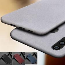 For Huawei Y9 2019 Y3 Y5 Y6 Y7 Prime 2018 Slim Sandstone Soft Rubber Cover Case