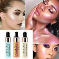Liquid Highlighter Illuminator Drops Bronzers Face Contour Shimmer Makeup Tool