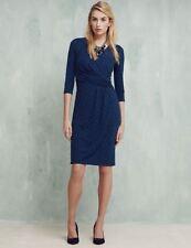 3/4 Sleeve Casual Geometric Wrap Dresses