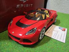 LOTUS EXIGE S3 ROADSTER rouge de 2015 au 1/18 GT SPIRIT GT043 voiture miniature