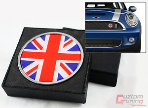 FOR MINI COOPER S COUNTRYMAN PACEMAN UNION JACK FLAG FRONT GRILL EMBLEM BADGE