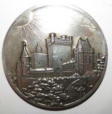 Superbe grande médaille de mariage en Argent Silver 176g ! de Crussol d'Uzes