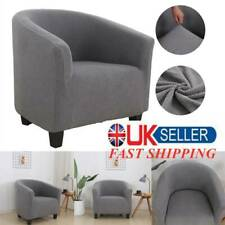 Tub Chair Covers Slipcovers Elastic Polyester Fabric Armchair Sofa Seat Cover @