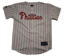 Majestic Youth Boys MLB Philadelphia Phillies White Baseball Jersey NWT M