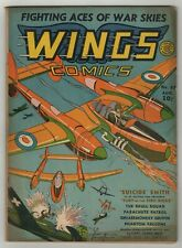 Wings Comics (1940) #12 Fawcette P-39 WWII Cover Al Walker Art Peddy Doolin VG-