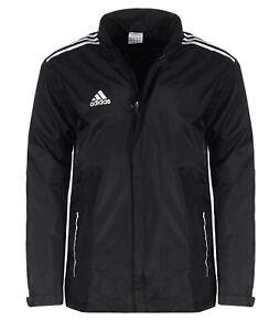 Adidas Core 11 leichte Regenjacke Herren Kapuze Laufjacke schwarz V39447