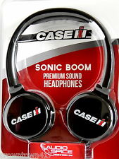 "NEW ""Sonic Boom"" Premium Sound Headphones w/CaseIH Logo & In-line Volume Control"