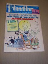"MAGAZINE ""TINTIN, SPECIAL no 615"" (1987) SPECIAL INVENTEURS"