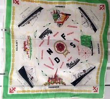 Vintage 50's Nordenfieldske Steamship Co. Silk Scarf Excellent Vintage Condition