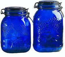 Storage Containers Glass Cheap Kitchen Jars Airtight With Lids Locking Blue