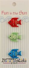 """Buttons Galore & More FUN IN THE SUN """"Tropical Fish"""" 3D Hand - Dyed - FN123"""