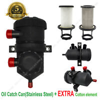 Oil Catch Can Separator (Stainless) & Filter Element (Cotton) For ProVent 200 TD