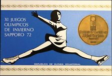 EQUATORIAL GUINEA 1972 35-36 A 35-36 FOLDER GOLD Olympics Sapporo Kasaya MNH