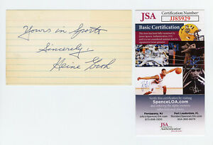 Heinie Groh Signed JSA COA Index Card Auto Autographed Extremely Rare 1919 Reds