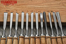 Wood Carving Set Vintage Chisel Hand Professional Tools Woodworking 12 Chisels