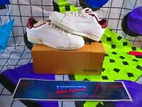 Uk 3 mens white rare reebok royal flag npc II el deadstock trainers