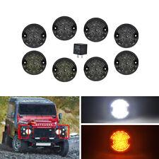 8PCs/Kit Smoke For Land Rover 90/110 83-90 Defender 90-16 Led Upgrade Kit Lamp