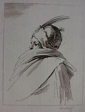 BARTOLOZZI `MANN MIT FEDERHUT UND MANTEL; MAN WITH..` IN BRAUN, DV 2179 I, ~1764