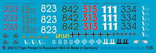 Peddinghaus 1/35, 0723,  Decals for Tiger markings for Russia