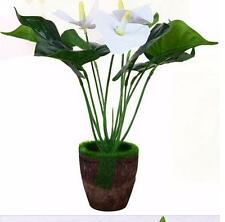 Latex Artificial Calla Lily Flower Plant Tree in Pot Vase Wedding Home Decor
