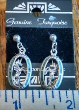 Genuine Turquoise American Made Unicorn Earrings post style (i)