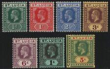 St. Lucia 1912 - Mi-Nr. 53-59 * - MH - King George V