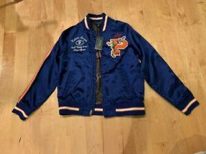 POLO RALPH LAUREN Boys Youth Jacket L14-16  Satin Tiger Varsity Bomber NWT $165