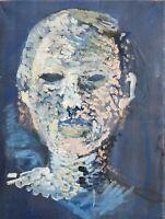 Brigitte Tietze Berlin Expressives Ölgemälde Portrait Mann Kopf 40 x 30 cm