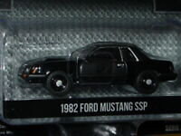 Greenlight 1982 82 FORD MUSTANG SSP FOXBODY COLLECTIBLE MUSCLE CAR -Black, MIP