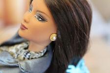 FM Jackie Kennedy faux pearl goldtone earrings fit 11-17in fashion dolls Barbie