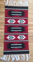 Vintage Woven Wool Table Runner From Germany