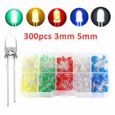 300Pcs/Box 3mm 5mm LED Light White Yellow Red Blue Green Assortment Diodes Kit