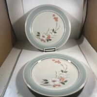 Pair of Impressions by Danielle Riverside Blue Mist Dinner Plates