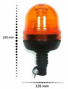 Rundumleuchte LED Blinklicht Warnleuchte Blitz Amber 12/24V Traktor Anhänger