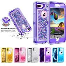 For iPhone X 8 7 Plus 6S Plus 6 Glitter Liquid Case (Belt Clip fits Otterbox)