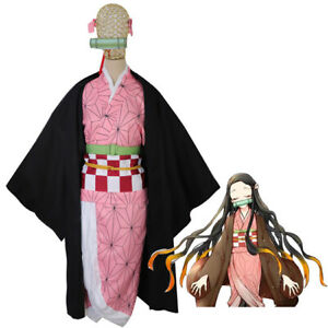 US! Anime Demon Slayer: Kimetsu no Yaiba Characters Party Cosplay Costume Outfit