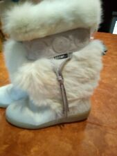 Oscar Sport Vega Italy Cream Fur Leather Trim Winter Boot Ski EUR 38 US 7-71/2