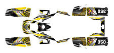 Yamaha Warrior 350 graphics ATV deco kit #7777 Yellow Free Customization
