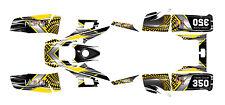 Yamaha Warrior 350 graphics ATV deco kit #7777 Yellow Free Customization