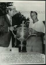 1951 Press Photo Finalists Sam Snead, Walter Burkemo, PGA trophy, Oakmont, WV