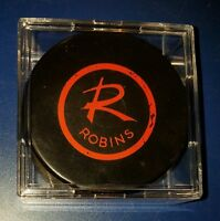 AHL Richmond Robins Old Vintage Rubber Logo Art Ross Converse Hockey Puck CLEAN