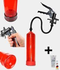 Penispumpe 14. FirePump RED Gel + Scherengriff Penisvergrößerung Potenzpumpe